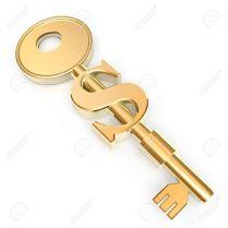 936676-llave-dorada-para-abrir-xito-en-las-empresas-foto-de-archivo